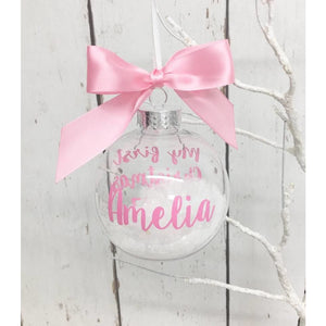 My first Christmas Bauble Pink • Baby Girl's Personalised Tree Ornament