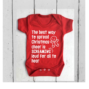 The Best Way to Spread Christmas Cheer Baby Vest • Elf Baby Vest • Christmas Baby Vest • Funny Baby Vest • BodySuit • Baby Grow •