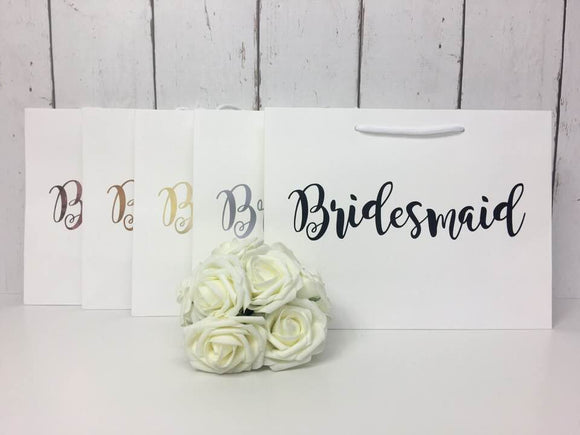 Bridesmaid • Bridesmaid Gift Bag • Bridesmaid Bag • Personalised Bridesmaid Bag • Wedding Gift Bag • Boutique Bag • Thank You Bridesmaid