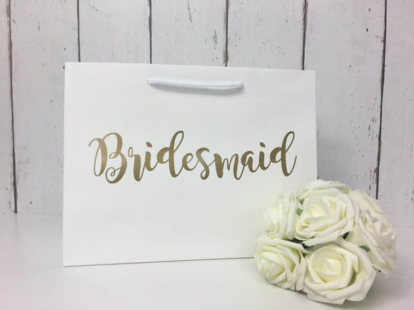 Bridesmaid Bag • Bridesmaid Gift Bag • Personalised Bridesmaid Bag • Wedding Gift Bag • Boutique Bag • Thank You Bridesmaid •Will You Be My