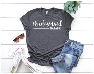 Bridesmaid Shirt • Personalised Bridesmaid T Shirt • Bridesmaid Tee • Hen Party Top • Bridesmaid Top •Hen Party Shirt • Hen Weekend Shirt