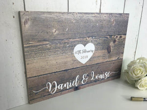 Wedding Guest Book • Alternative Guest Book • Wooden Guest Book • Pallet Sign • Rustic Wedding • Personalised Guestbook • Wooden Guestbook Rustic • Wedding • Guest Book • Board • Alternative • Pallet Wood • Wooden Sign • Personalised • Props • Custom • Unique • Guestbook