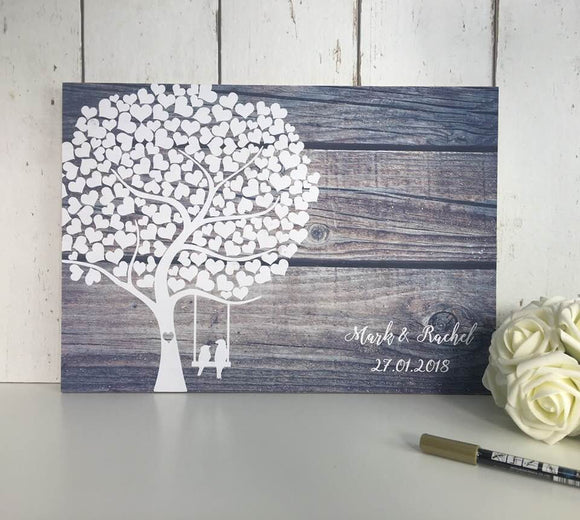 Wedding Guestbook • Wedding Guest Book • Alternative Wedding Guest Book • Guest Book Wedding • Rustic Wedding Guest Book • Tree Guest Book