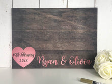 Load image into Gallery viewer, Rose Gold Wedding Guest Book • Wedding Guest book • Alternative Wedding Guest Book • Wedding Guestbook Rustic Wedding Guest Book • Wood Effect