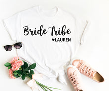 Load image into Gallery viewer, Bride Tribe Shirt • Personalised Bride Tribe • Bride Tribe Top • Bride Tribe T Shirt •Bridesmaid Gift •Hen Party T Shirt •Bridesmaid T Shirt
