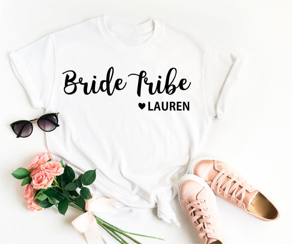 Bride Tribe Shirt • Personalised Bride Tribe • Bride Tribe Top • Bride Tribe T Shirt •Bridesmaid Gift •Hen Party T Shirt •Bridesmaid T Shirt