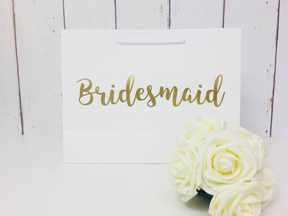 Bridesmaid Gift Bag • Bridesmaid Bag • Personalised Bridesmaid Bag • Wedding Gift Bag • Boutique Bag • Thank You Bridesmaid •Will You Be My