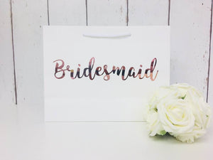 Rose Gold Bridesmaid Gift Bag