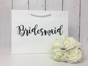 Bridesmaid Gift Bag • Personalised Wedding Gift Bag