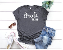 Load image into Gallery viewer, Personalised Bride T Shirt • Bride Shirt • Bride Top • Bride Vest • Bride Tribe Top • Hen Party Shirt • Hen Weekend Shirt •Bride Tribe Shirt
