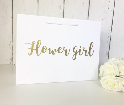 Flower Girl Gift Bag Gold