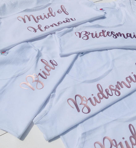 Hen Party Tops • Rose Gold Bridesmaid • Bridesmaid Tops • Hen Party Vests • Hen Do Tops • Bridesmaid Vests • Batchelorette Vest • Hen Do Tee