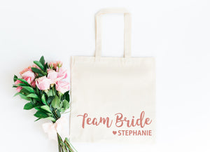 Team Bride Tote Bag For Hen Party Gifts
