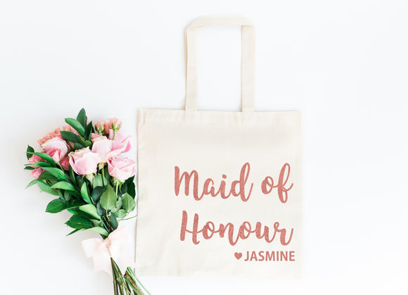 Maid of Honour Gift Bag, Personalized Hen Party Gift Bag