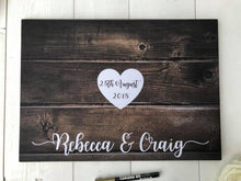 Load image into Gallery viewer, Guestbook Alternative • Wedding Guest Book • Alternative Wedding Guest Book • Guest Book Wedding • Rustic Guest Book • Wedding Guestbook