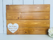 Load image into Gallery viewer, Wedding Guest Book Alternative • Guest Book Alternative • Wooden Guestbook • Wooden Guest Board •Wedding Guest Board • Rustic Wedding Decor