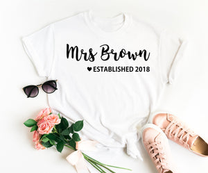 Personalized Bride Shirt - Personalized Mrs Shirt - Future Mrs Shirt - Mrs Bride Shirt - Newlywed Shirt