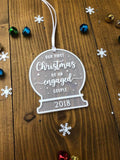 Our First Christmas as an Engaged Couple • Personalised Engagement gift