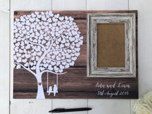 Load image into Gallery viewer, Wedding Guestbook • Wedding Guest Book • Alternative Wedding Guest Book • Guest Book Wedding • Rustic Wedding Guest Book • Tree Guest Book