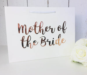 Rose Gold Mother of the Bride Gift - Rose Gold Mother of the Bride Gift Bag - Mother of the Bride Bag