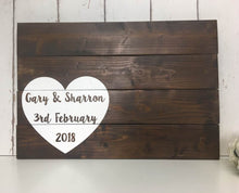 Load image into Gallery viewer, Jumbo Heart Guest Book • Wedding Guest Book • Alternative Guest Book • Wooden Guest Book • Personalised Guestbook • Wooden Guestbook
