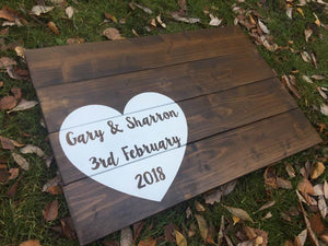 Jumbo Heart Guest Book • Wedding Guest Book • Alternative Guest Book • Wooden Guest Book • Personalised Guestbook • Wooden Guestbook