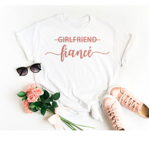 Girlfriend Fiance Shirt • Engagement Shirt • Engagement Announcement • Engagement Gift • Future Mrs Shirt • Fiance Shirt •Wife Shirt •TShirt