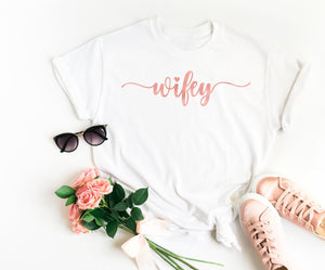 Wifey T Shirt • Wifey Top • Honeymoon Shirt • Bride Shirt •Personalised Bride Shirt •Mrs Shirt •Future Mrs Shirt •Newlywed Shirt •Bride Gift
