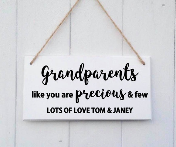 Personalised Grandparents Gift - Personalised Grandparents Sign - Grandparents Gift - Personalised Grandparents Plaque - Grandad Gift