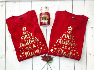 My First Christmas As A Mum • Matching Christmas Jumpers • Our First Christmas As Parents • Couples Jumper • Christmas Sweater • Sweatshirt