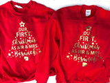 Matching Christmas Jumpers Our First Christmas As Mr and Mrs • Personalised Christmas Jumper •Couples Jumper •Christmas Sweater• Sweatshirt