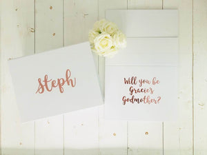 Godmother Proposal Box | Godparents Proposal Box | Godparents Gift | Godmother Gift | Personalised Gift Box | Rose Gold Gift Box