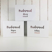 Load image into Gallery viewer, Personalised Bridesmaid Gift Box | Bridal Party Gift Boxes | Maid of Honour Mother of the Bride Flower Girl