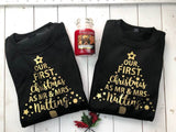 Couples Christmas Sweater • Matching Christmas Jumpers • Our First Christmas As Mr and Mrs • Personalised Christmas Jumper • Sweatshirt