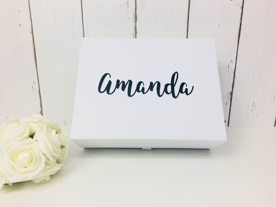 Personalised Bridesmaid Box • Bridal party gift box • Will You Be My Bridesmaid • Rose Gold Gift Box • Rose gold wedding • Flower Girl Gift
