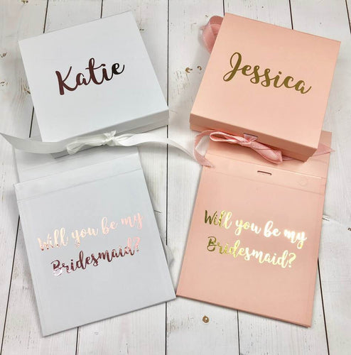 Rose Gold Bridesmaid Gift Box Will You Be My Bridesmaid Maid Of Honour Gift White Pink Gold Silver Personalised Bridesmaid Proposal Box Bridesmaid Proposal Box • White Gift Box •Personalised Gift Box •Bridal Party Gift • Wedding Gift •Mother Of The Bride Gift • Thank you Gift