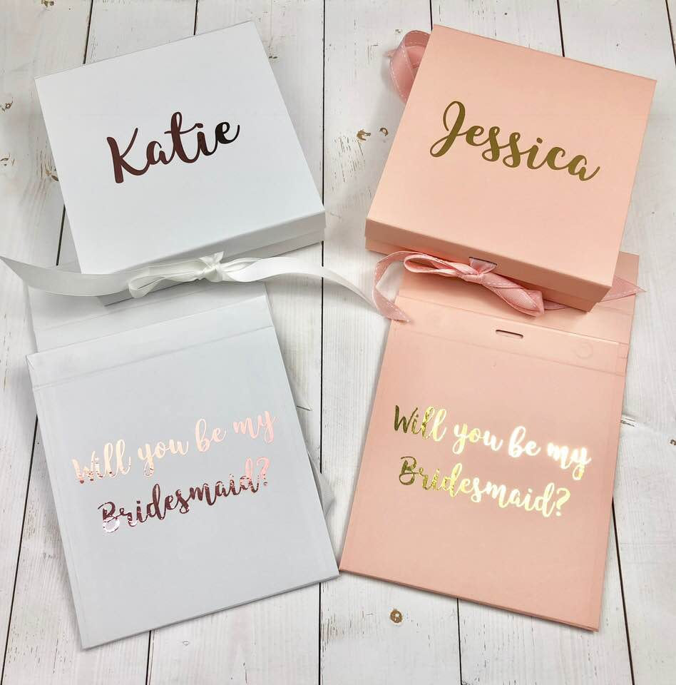 Will You Be My Bridesmaid Box Personalised Bridesmaid Proposal Gift The Lakeside Shed