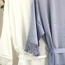 Load image into Gallery viewer, Bridesmaid Robe with Lace Trim