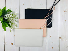 Load image into Gallery viewer, Plain Clutch Bag Large Clutch Bag Saffiano Clutch Faux Leather Pouch Bridesmaid Maid of Honour Proposal Gift