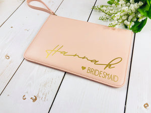 Personalised Bridesmaid Clutch Bag