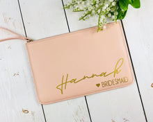 Load image into Gallery viewer, Personalised Bridesmaid Clutch Bag