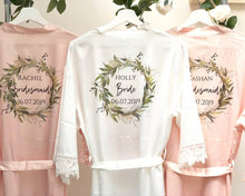 Load image into Gallery viewer, Bridesmaid Robes Set of 8 • Satin Lace Wedding Robes • Bridal Robes • Wedding Dressing Gown •Floral Robe • Bride Dressing Gown•Wedding Robes