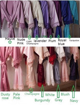 Load image into Gallery viewer, Bridal robe Bridesmaid Wedding Dressing Gown