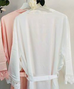 Plain Bridal Robe • Lace Bridesmaid Robe • Wedding Dressing Gown • Floral Bridal Robes • Satin Wedding Robe • Blush Pink Robe • Wedding Robe