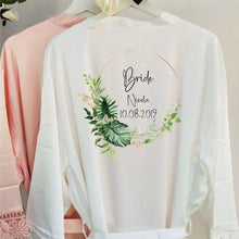 Load image into Gallery viewer, EXPRESS SERVICE Bride Robe Personalised Wedding Robe Lace Bridal Dressing Gown Bridesmaid Robe Wedding Gift Bridesmaid Gift Bridesmaid Robes