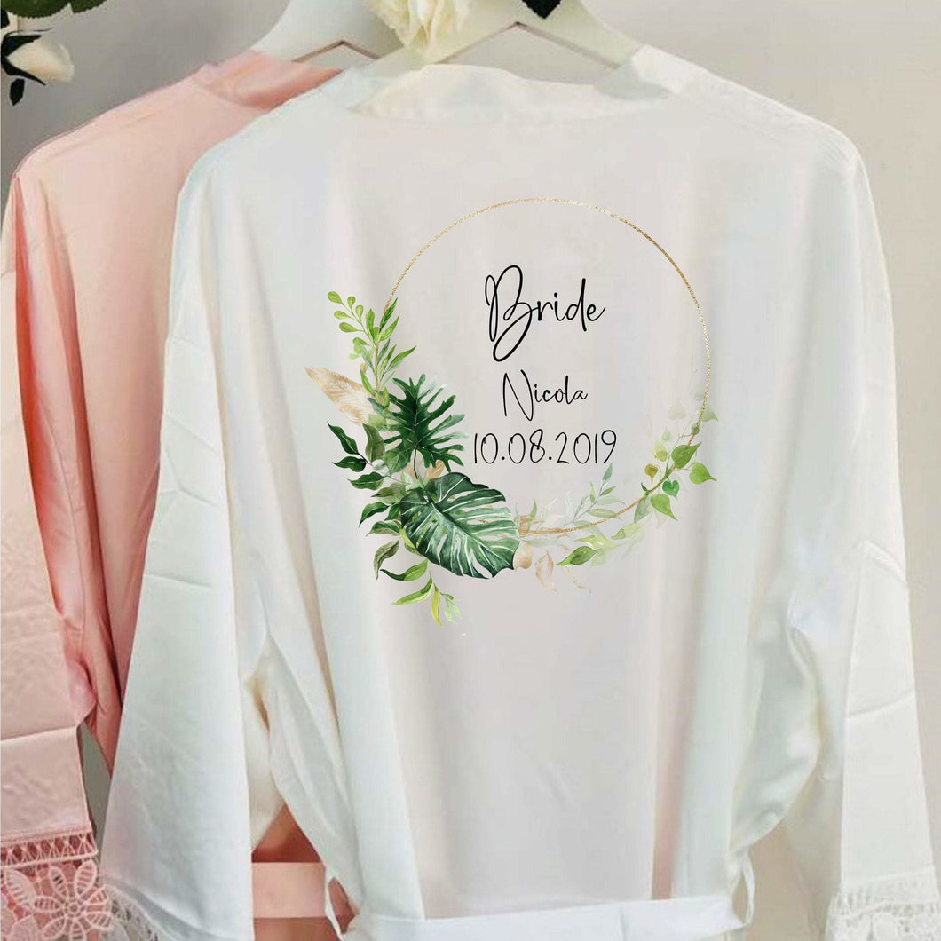 EXPRESS SERVICE Bride Robe Personalised Wedding Robe Lace Bridal Dressing Gown Bridesmaid Robe Wedding Gift Bridesmaid Gift Bridesmaid Robes
