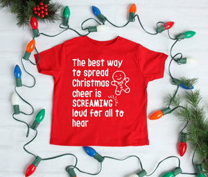 The Best Way to Spread Christmas Cheer Children's T Shirt • Toddler Shirt • Kids Shirt • Christmas Shirt • Funny Children's Clothes Vest