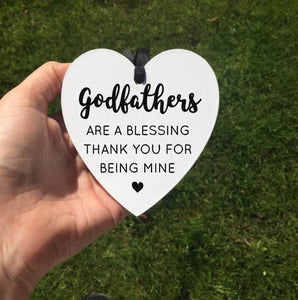 Godfather Godmother Godparents Godfather Thank you Ornament Keepsake Decoration