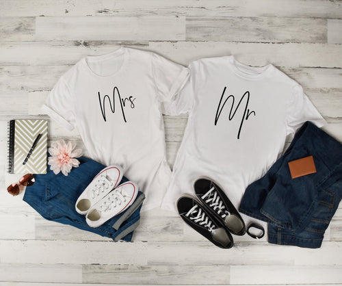 Mrs and Mr Shirt Honeymoon Shirts • Couples Shirt • Newlywed Shirts • Wedding Gift • Fiancee Wife • Fiance Husband • Husband Gift •Wife Gift