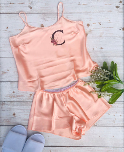 Bridesmaid Pyjama Set, Personalised Satin Cami Gift Set
